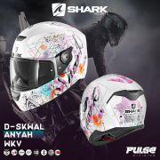 Capacete Shark D-Skwal Anyah WKV Feminino S/ Led