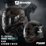 Capacete Shark D-Skwal Hiwo Matt KAK Marron S/ Led