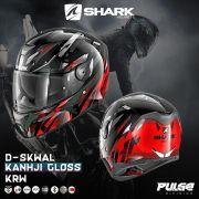Capacete Shark D-Skwal Kanhki Gloss KRW Vermelho S/ Led