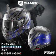 Capacete Shark D-Skwal Kanhki Matt Azul AKB S/ Led