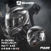 Capacete Shark D-Skwal Mercurium matt KAK Preto/cz Led