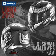 Capacete Shark D-Skwal Sam Lowes Kaw Preto/Prata S/ Led