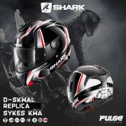 Capacete Shark D-Skwal Sykes Replica KWA PR/BR/VM S/ Led