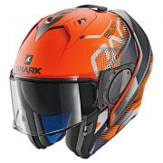 Capacete Shark Evo One V2 Keenser Matt OKA Orange Escamoteável