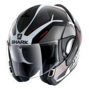 Capacete Shark Evoline S3 Hataum Glossy KWR Escamoteável