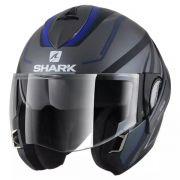 Capacete Shark Evoline S3 Hyrium Matt AKB Escamoteável