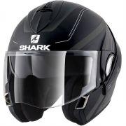 Capacete Shark Evoline S3 Hyrium Matt Kaw Escamoteável (Preto/Cinza Fosco)