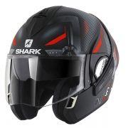 Capacete Shark Evoline S3 Shazer Matt KRS Escamoteável - Só 62/XL