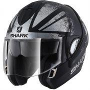 Capacete Shark Evoline S3 Tixer Matt Kus Escamoteável (Preto/Cinza Fosco )