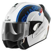 Capacete Shark Evoline Serie 3 Drop WBR Azul - Só 60 e 62