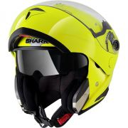 Capacete Shark Openline HI Visibility Yellow YKY Escamoteável