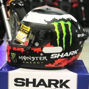 Capacete Shark Race-R PRO Lorenzo Monster 2018 KRG Fosco Replica