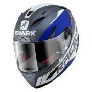 Capacete Shark Race-R PRO Sauer Matt AWB Azul/Cinza Esportivo