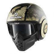 Capacete Shark RAW/Drak Evok Matt KGS - Ganhe Camiseta Shark