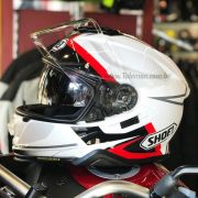 Capacete Shoei GT-Air 2 Affair TC-6 Branco/Pr/Vm com Pinlock Anti-Embaçante