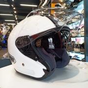 Capacete Shoei J-Cruise Corso White/Silver TC-6 Aberto - Oferta