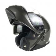 Capacete Shoei Neotec 2 Antracite Brilhante Escamoteável - PRONTA ENTREGA