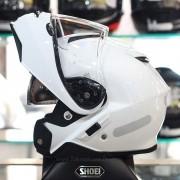 Capacete Shoei Neotec 2 Branco Brilho Escamoteável - PRONTA ENTREGA