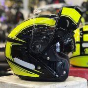 Capacete Shoei Neotec Borealis TC-3 Amarelo Escamoteável/Articulado Motociclista