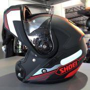 Capacete Shoei Neotec Imminent TC-1 C/ Vermelho Escamoteável - Semana do Motociclista