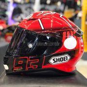 Capacete Shoei NXR Marc Marquez Replica TC-1 - Réplica Oficial - Semana do Motociclista
