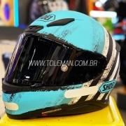 Capacete Shoei NXR SHOREBREAK TC-2 Azul Claro - Esportivo