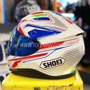 Capacete Shoei NXR Stab TC-2 Branco/Azul - Esportivo