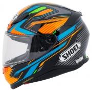 Capacete Shoei NXR Stab TC-8 Laranja/Azul  Esportivo - Esportivo