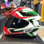 Capacete Shoei NXR Valkyrie TC-4 Verde - C/ VÍDEO - Semana do Motociclista