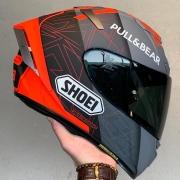 Capacete Shoei X-Spirit 3 Marc Marquez Concept II Cinza/Vermelho - X-Fourteen - X-Spirit III - Esportivo -