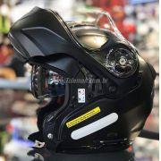 Capacete X-Lite X-1004 Elegance Preto Fosco Articulado/Escamoteável (GANHE TOUCA BALACLAVA X-LITE)
