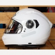 Capacete X-Lite X-661 White Brilho N-Com (GANHE TOUCA BALACLAVA X-LITE)
