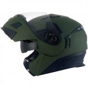 Capacete Zeus 3020 Verde Fosco - Escamoteável - Só S