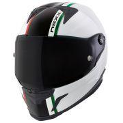 Capacete Nexx XR2 Anima Branco/Vermelho/Verde Tri-Composto