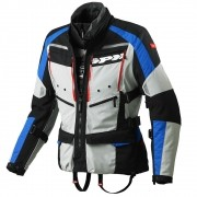 Jaqueta Spidi 4 Season Black/Blue/Grey H2Out e Ventilada - Big Trail Parka