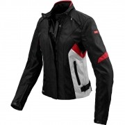 Jaqueta Spidi Flash H2OUT Lady Black/RED/WHITE com VIDEO - Oferta!
