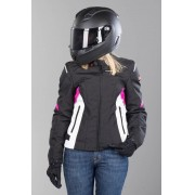 Jaqueta Spidi Flash Tex Lady Black/GRAY/pink