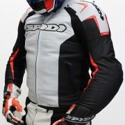 Jaqueta Spidi Track em Couro Branca c/ Vm Fluor  - Semana do Motociclista - BlackOferta