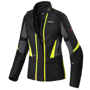 Jaqueta Spidi Traveler 2 Black/Yellow Fluor Lady Feminina H2Out/Impermeável - BlackOferta
