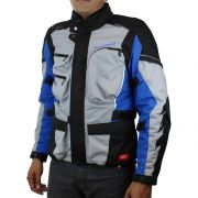 Jaqueta Spidi Voyager 3 H2Out Drak/Grey/Blue (Big Trail Parka) - Semana do Motociclista