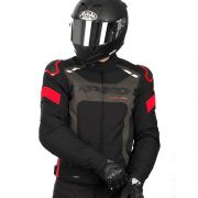 Black Friday -  Jaqueta Spidi Warrior H2OUT PRETO/CINZA/VERMELHO Impermeável - Semana do Motociclista