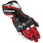Luva Spidi Carbo 3 Preta / Vermelho em couro (Super Sport)  - BlackOferta