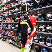 Macacão Tutto Moto Racing 2 pçs Preto/vm/am - Ganhe protetor de Coluna Tutto - Oferta!!!