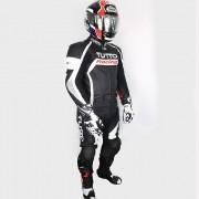Macacão Tutto Moto Titanium Racing 2 pçs Branco c/ Prata