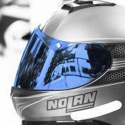 Viseira Nolan N87/N85 Espelhada Azul