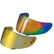 Viseira Shoei CW-1 Espelhada Dourada e Rainbow c/ Pinlock (X-Spirit II, XR-1100 e Qwest) Original