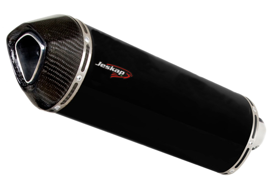 Escapamento Jeskap Three Carbon Kawasaki Z800 (Alum/Preto/Aço escovado/Carbono)  - Nova Suzuki Motos e Acessórios