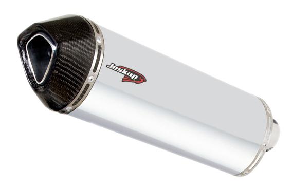 Escapamento Jeskap Three Carbon Kasinski Comet 250 35cm (Alum/Preto/Aço escovado/ Carbono)  - Nova Suzuki Motos e Acessórios