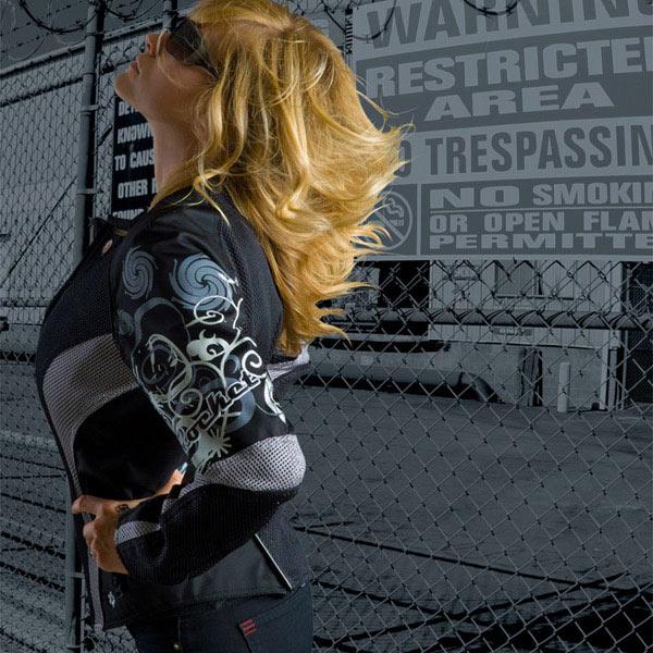 Jaqueta Joe Rocket Cleo Preta Feminina Impermeável e Ventilada  - Nova Suzuki Motos e Acessórios