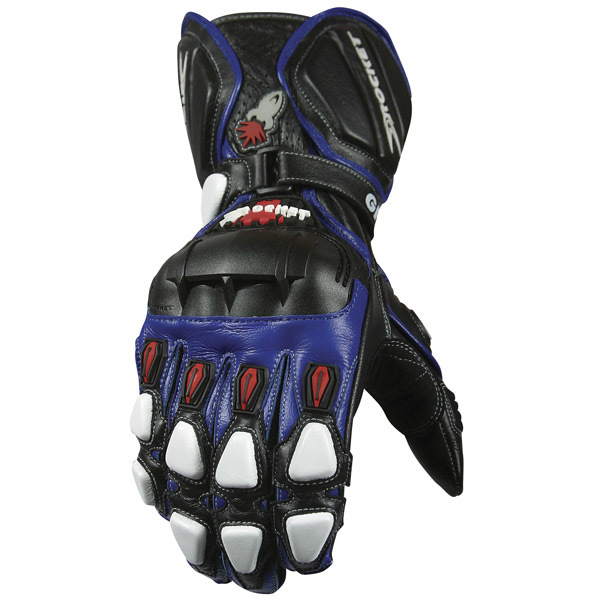Luva Joe Rocket GPX 2.0 azul Esportiva  - Nova Suzuki Motos e Acessórios
